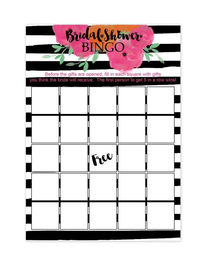 how to play bridal bingo