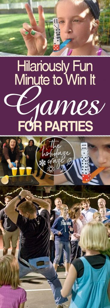Hilariously Fun Minute to Win It Games for Parties| Games for Parties, Minute to Win It Games for Parties, Party Activities, Party Games, DIY Party Games, Party Game Ideas, Popular Pin