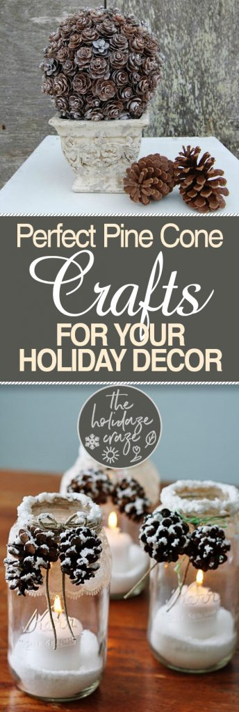 Perfect Pine Cone Crafts for Your Holiday Decor| Pine Cone Crafts, Holiday Decor, Holiday Decor Crafts, Christmas Crafts, Pine Cone DIYs. #HolidayCrafts #EasyHolidayCrafts #CraftsforKids #ChristmasCrafts #ChristmasDecor