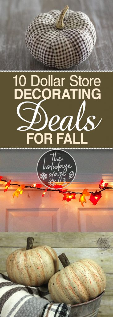 10 Dollar Store Decorating Deals For Fall| Dollar Store Decor, Dollar Store Decor Hacks, Fall Dollar Store Decor, Dollar Store Decorating, Fall DIYs, Cheap Fall Decor, Holiday Decor Hacks, Popular Pin