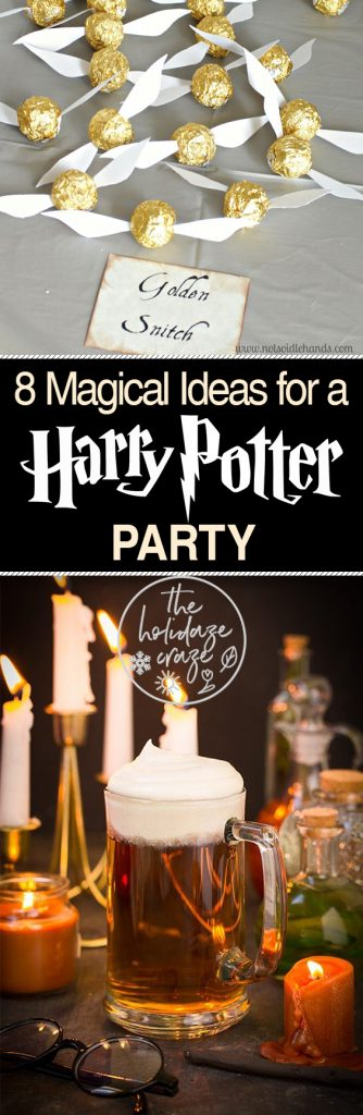 8 Magical Ideas for a Harry Potter Party| Harry Potter Party Ideas, Halloween Party Ideas, Holiday Parties, Holiday Party Ideas, Harry Potter Themed Parties, Party Games, Birthday Party Ideas, Kids Birthday Party