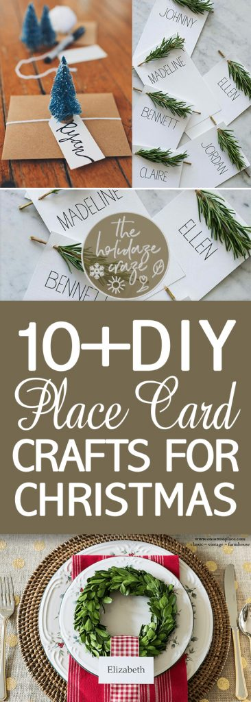 10+ DIY Place Card Crafts for Christmas| Christmas Place Cards, DIY Christmas Place Cards, Place Card Crafts, Craft Projects, Home Crafts, Christmas Crafts for the Home #Christmas #Crafts #ChristmasCrafts #HolidayHome