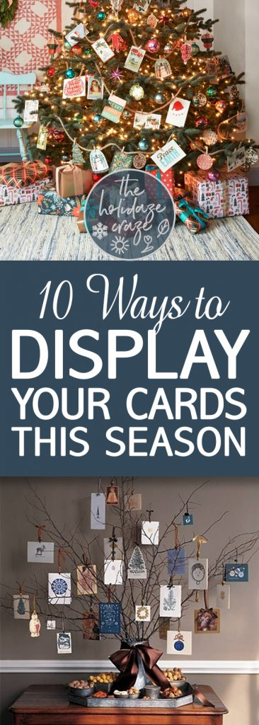 10 Ways to Display Your Cards This Season| Christmas, Christmas Card Display, DIY Christmas Card Display, Holiday Christmas Card Display #Christmas #HolidayHomeDecor
