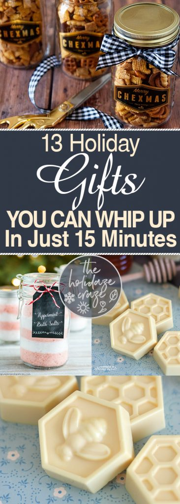 13 Holiday Gifts You Can Whip Up In Just 15 Minutes| Holiday Gifts, Gifts, Christmas Gifts, DIY Gifts, Handmade Gifts, Handmade Holiday Gifts, Gifts, Gift Ideas, Holiday Hacks. #HolidayGifts #Holiday #ChristmasGifts #GiftIdeas