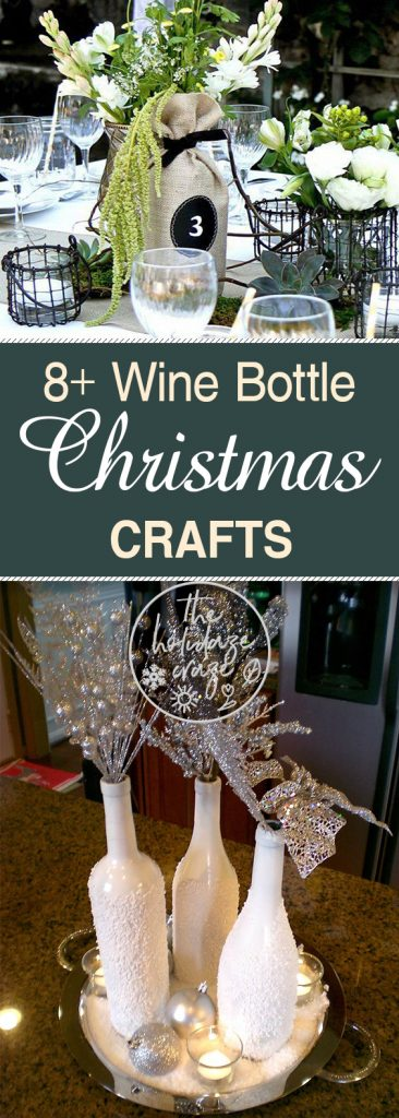 8+ Wine Bottle Christmas Crafts| Christmas Crafts, Wine Bottle Crafts, Wine Bottle Repurpose Projects, Wine Bottle Recycling Projects, Holiday Home Decor #WineBottle #HolidayHome #Christmas