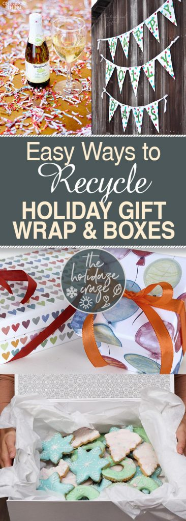 Easy Ways to Recycle Holiday Gift Wrap & Boxes| Holiday Gift, Holiday Gift Projects, How to Reuse Holiday Gifts, Recycling Projects, DIY Crafts #Holiday #RecyclingCrafts #DIYCrafts
