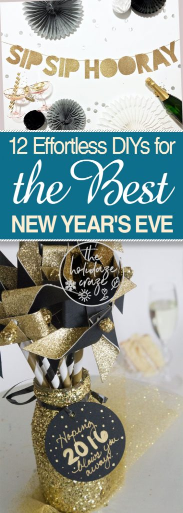 12 Effortless DIYs for the Best New Year's Eve| New Years Eve, New Years Eve Decor, DIY NYE, Party Ideas, Holiday Party, Holiday Party Ideas, Holiday Party Hacks, New Years, New Years Eve, DIY New Years Eve,  #NewYearsEve #Holiday #HolidayHome