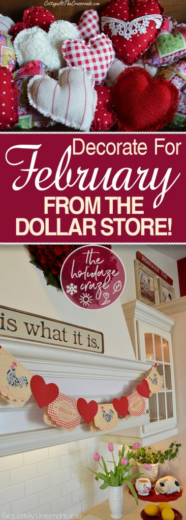 Decorate For February From the Dollar Store!| Dollar Store, Dollar Store Decor, Valentines Day Decor, DIY Dollar Store Crafts, Dollar Store Crafts, Crafts, Valentines Day Crafts, Simple Valentines Day Crafts, popular Pin #ValentinesDay #Crafts #DollarStore