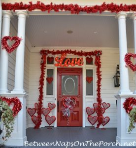 14 Charming Ways to Decorate Your Porch for Valentine's Day| Valentines Day, Valentines Day Porch Decor, Holiday Porch Decor, DIY Holiday Porch Decor, Porch, Porch Stuff