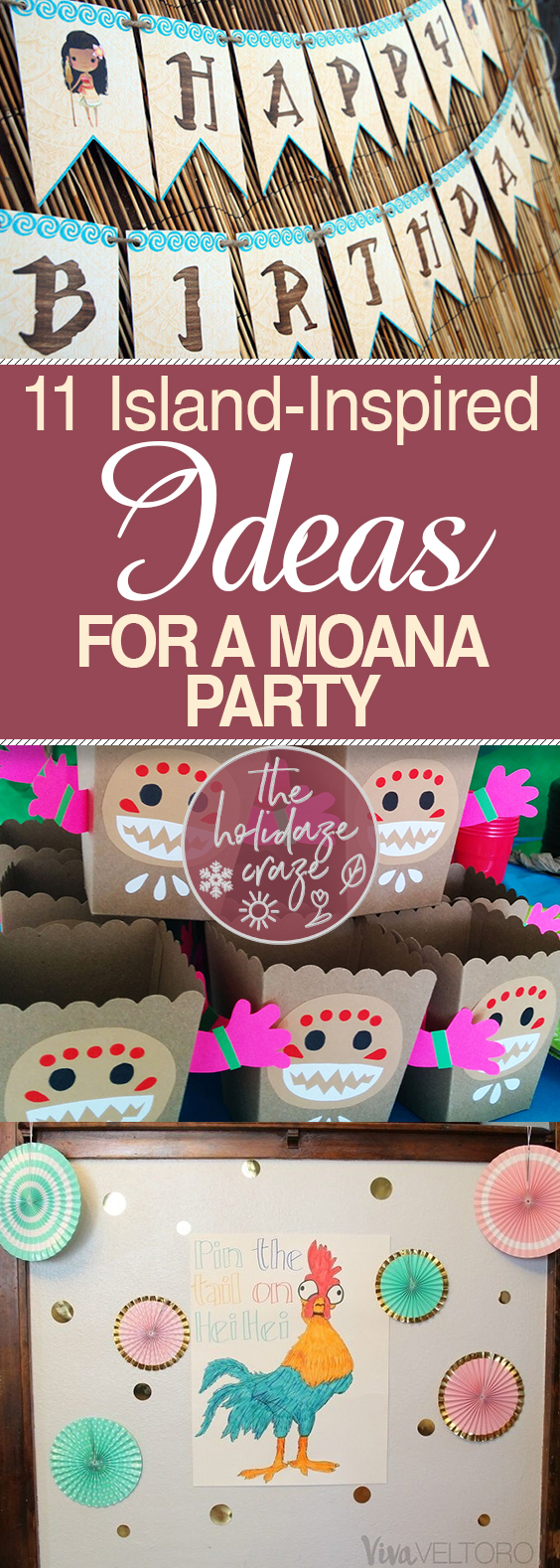 11 Island-Inspired Ideas for a Moana Party| Party Ideas, Party Ideas for Kids, Moana, Moana Party, Moana Party Ideas, Moana DIYs, Parties for Kids, Birthday Parties for Girls, Birthday Parties for Boys, Homemade Party Decor, DIY Moana Party, Themed Birthday, Themed Birthday Party Ideas