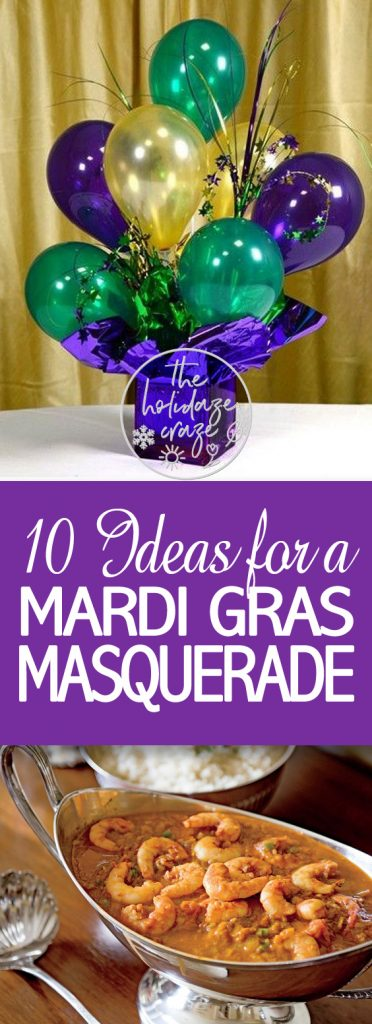 10 Ideas for a Mardi Gras Masquerade| Mardi Gras Party, Mardi Gras Party Ideas, Party Ideas, DIY Party Ideas, Fun Party Ideas, Masquerade Party Ideas, DIY Masquerade Party Ideas, Popular Pin #MasqueradeParty #PartyIdeas #FunPartyIdeas