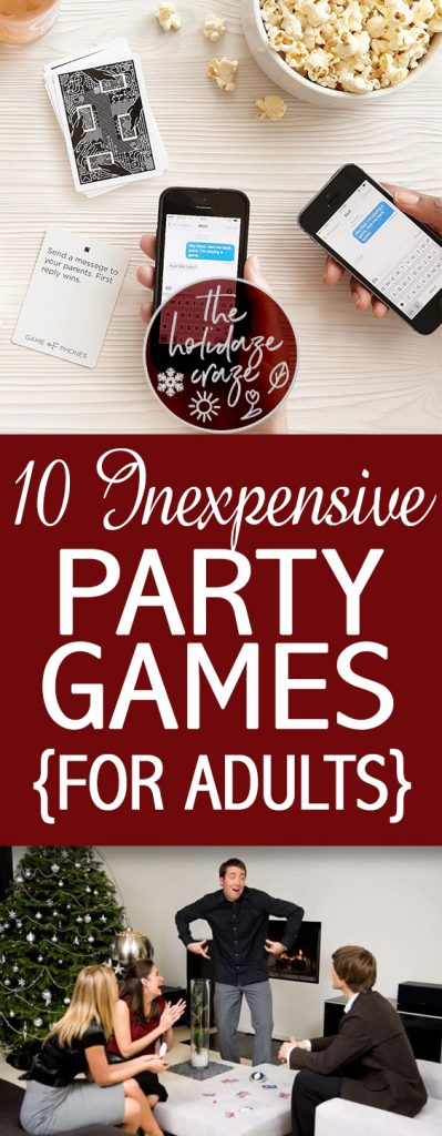 10 Inexpensive Party Games {For Adults}| Holiday Ideas, Party Games, Party Games for Adults, Birthday Party, Party Games for Adults, Games, Fun Games