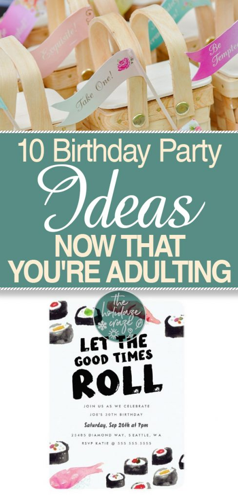 10 Birthday Party Ideas Now That You're Adulting| Birthday Party Ideas, Birthday Party Ideas for Grown Ups, Birthday Party, Birthday Party Games, Party Ideas