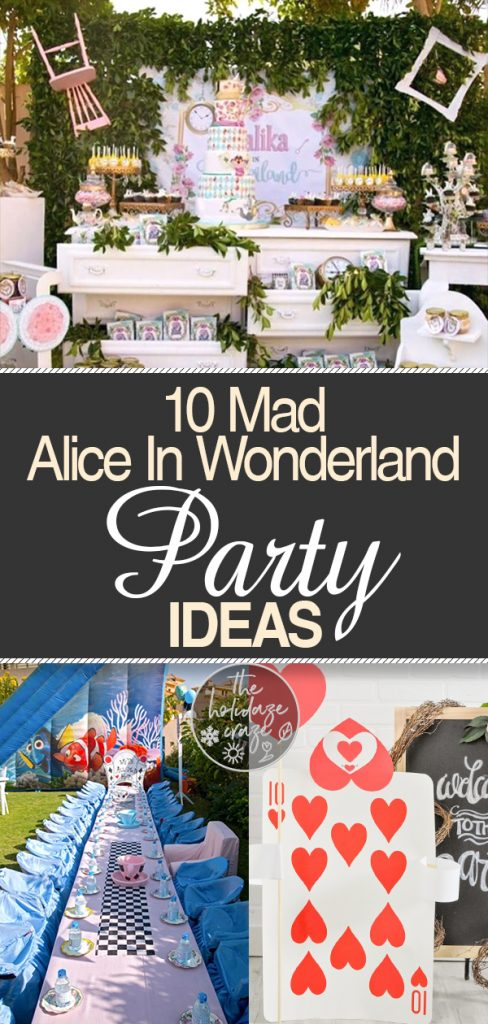 """10 """"Mad"""" Alice In Wonderland Party Ideas 