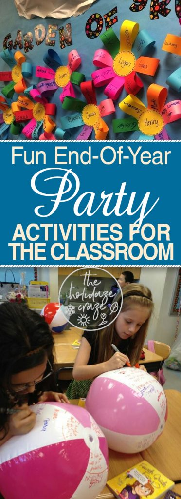 Fun End-Of-Year Party Activities for the Classroom| End of Year Party, End of Year Party Ideas School, End of Year Party School, End of YEar Party Ideas, Party Ideas, Party Planning