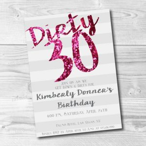 "9+ Ideas for Your ""Dirty Thirty"" Party 