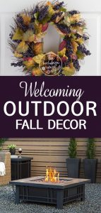 outdoor fall decor, fall decorations, outdoor fall decorations, Faux Fall Eucalyptus Wreath