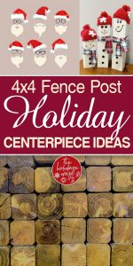 Holiday Centerpiece Ideas | DIY Holiday Centerpiece Ideas | Fencepost Centerpiece Ideas | Fencepost Centerpieces | Holiday Centerpieces | DIY Holiday Centerpieces