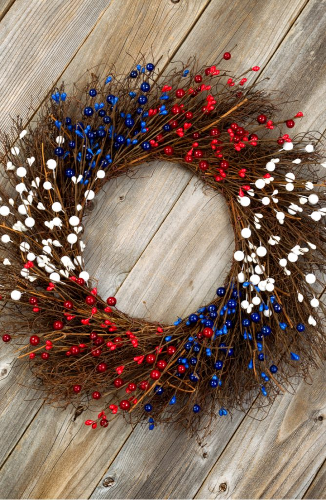 wreaths | fourth of july | fourth of july wreaths | diy | diy wreaths | diy crafts | crafts | fourth of july crafts | decor | porch decor | fourth of july decor