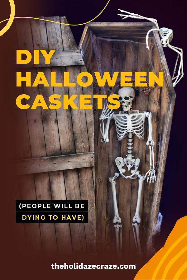 DIY Halloween Caskets | DIY | DIY casket | DIY Halloween decor | Halloween | Halloween decor | Halloween yard decor | DIY Halloween yard decor | casket
