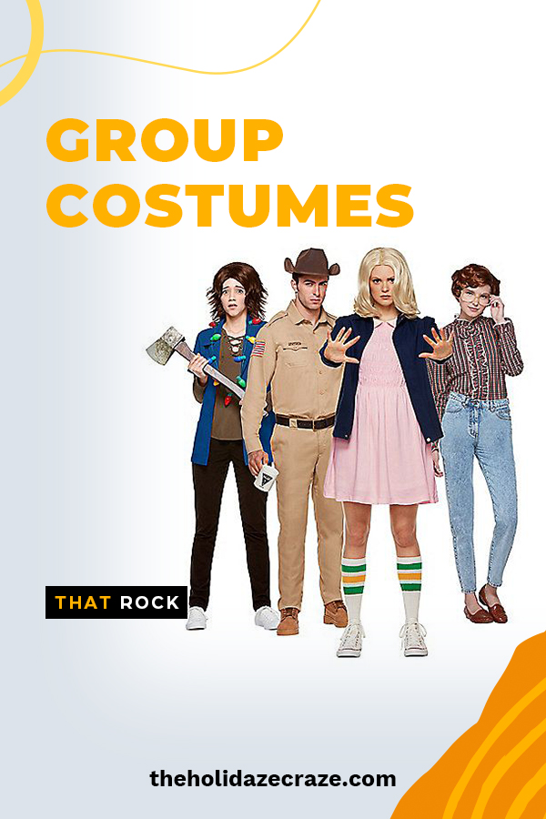 If you're looking for group costumes this Halloween, then look no further! These group costumes that rock will blow everyone away