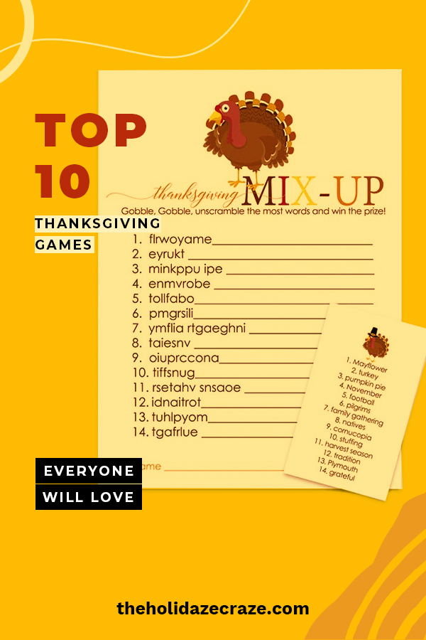 Turn off the TV (and all the football games) and spend time with each other playing Thanksgiving games. Laugh and make the best memories with each other as you play these games for adults, kids, and the whole family. You will be reminded just how much you have to be thankful for.