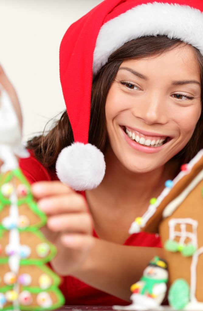 It can be tricky coming up with holiday party ideas for large groups of people. Why not make gingerbread houses and have a contest for the best one?