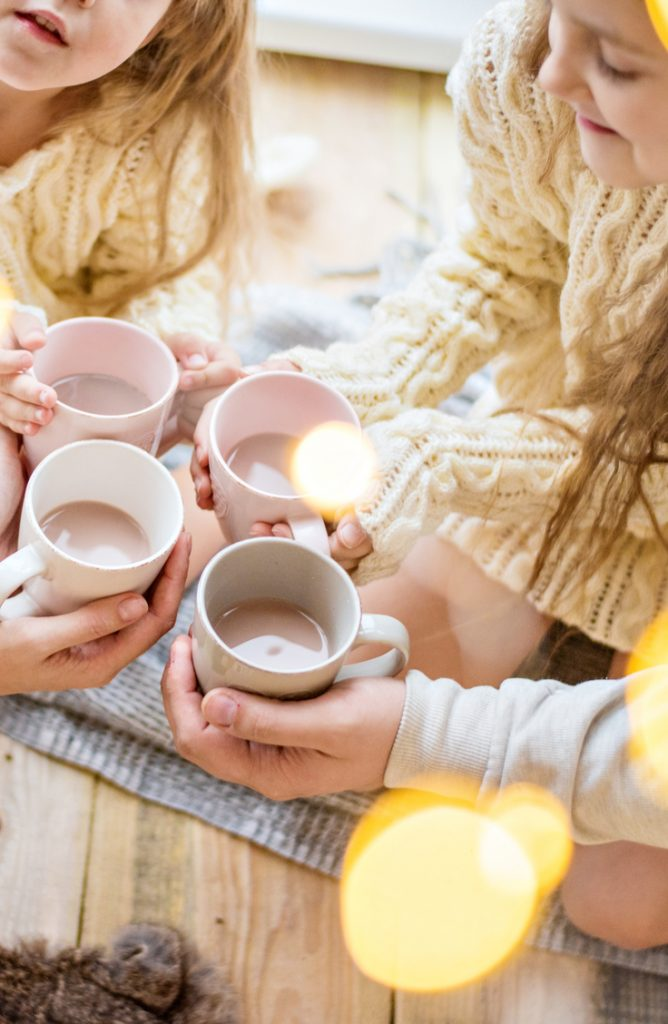 It can be tricky coming up with holiday party ideas for your kids. Why not have a hot chocolate party? It will keep everyone nice and warm.
