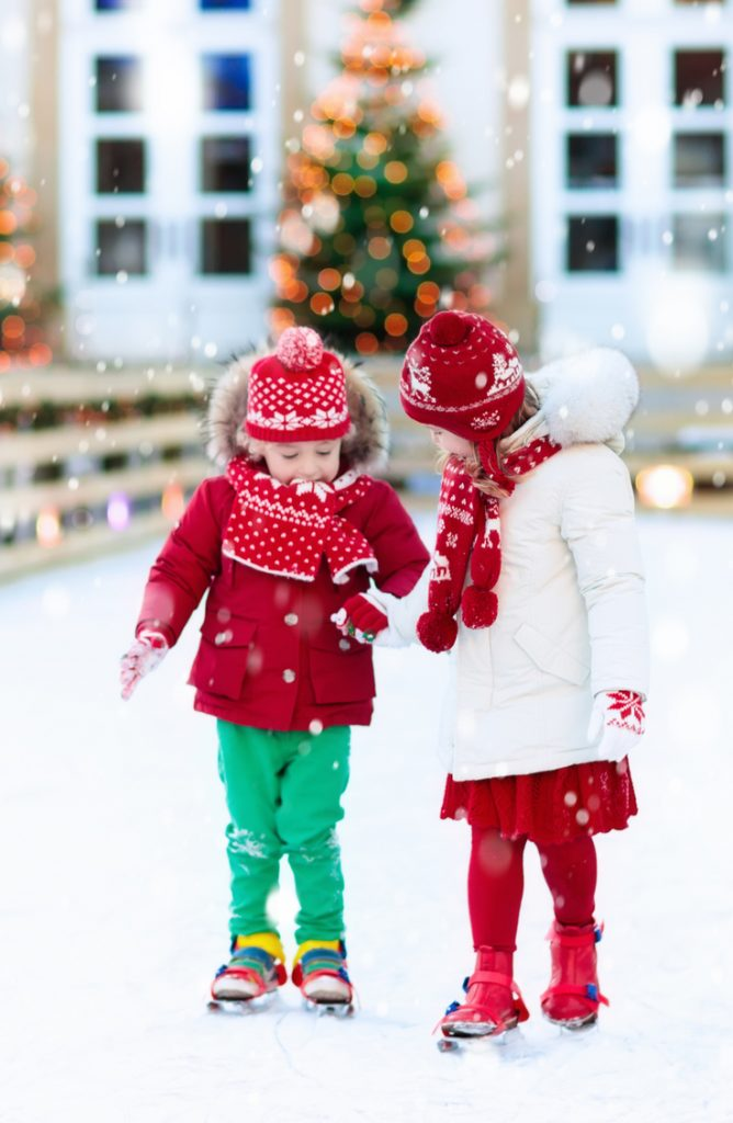It can be tricky coming up with holiday party ideas for kids, so why not take them ice skating? They will have fun and enjoy being outside.