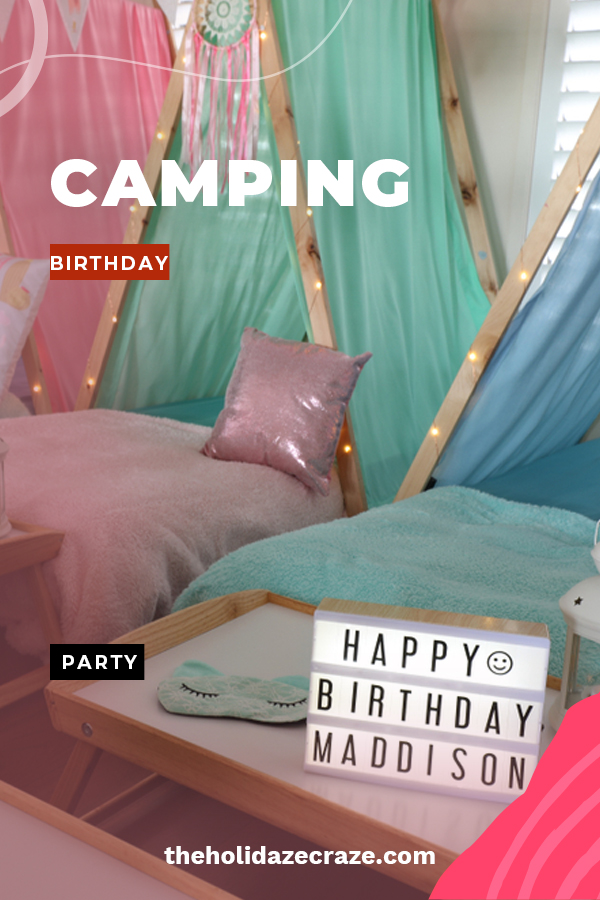 If you want to have a great birthday party for your child, than a camping theme is sure to do the trick. Whether the party is held inside or out, this party will be just like the real deal. Let us show you some great ideas for invites, decor, and food. We provide ideas for just about everything, but the bug spray is on you. Keep reading to learn more. #campingthemebirthdaypartyideas #birthdaypartyideas