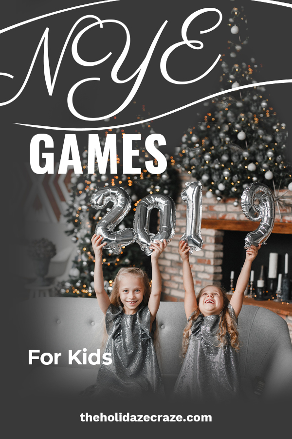 New Year's Eve is such a fun night to go out with your spouse and leave the kids at home. While you are out having fun, you want the kids to be having fun at home as well. That's why The Holiday Craze is discussing NYE games for the kids when you go out. Loaded with lots of fun these games will keep the kids entertained and they might even forget that you guys are gone. Let the kids ring in the new year with these fun games. #NYEgamesforkids #bestNYEgames