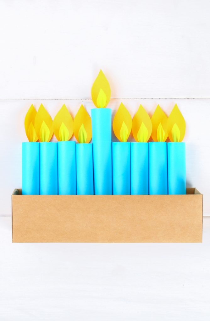 If you want your kids to get more involved with Chanukah, have them make this paper Menorah. These DIY Menorah ideas will be perfect for kids and families.