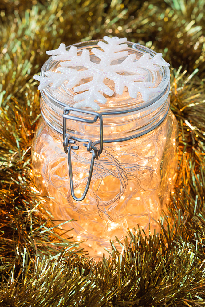 Luminaries are a staple during the holiday season, so why not have them at your New Year's Eve party? For more DIY New Year's Eve decorations, look here.