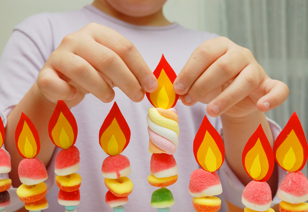If you want to try to get your kids more involved with Chanukah this year, have them make their own Menorah. These DIY Menorah ideas are fun and easy to make.