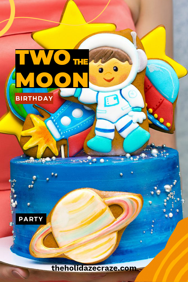 I love themed birthday parties. They make the event so much fun. If you have a little one that wants an out of this world party, look TWO the Moon. Make the day fun with ideas centered around the moon. Your two year old will have such a fun day. Keep reading for ideas about invites, decor, food and games. It's one small step towards making your two year old smile. #birthdaypartyideas #themedbirthdayparties #twothemoon