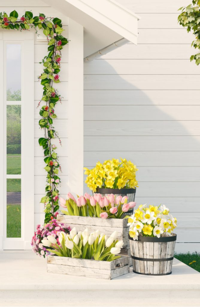 Spring is almost here! In celebration of what's to come, here are some beautiful spring porch decor ideas! Spring time is perfect for breaking out your planters and putting beautiful boxes of flowers on your porch.