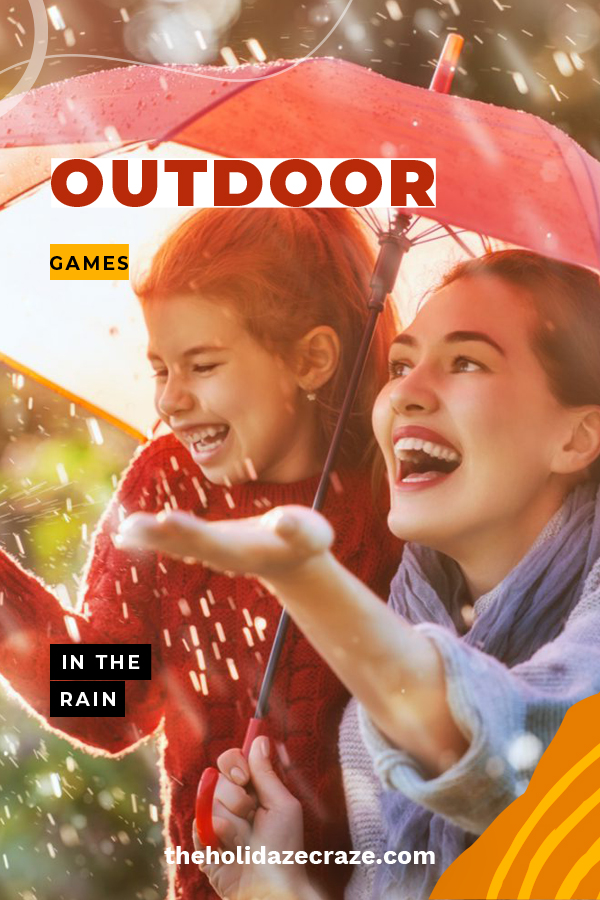 Remember when you were a kid and you loved to play in the rain despite your mom telling you to come inside? Of course you do! Well, these games were specifically created for those rainy days. Have some fun when the rain is coming down by playing a few of these games. Ideas include games for wanna be scientists, artists and more. Pray for rain. Keep on reading to learn more about these ridiculously fun games for when it pours. #outdoorgamesintherain #gamestoplayintherain #outdoorgames